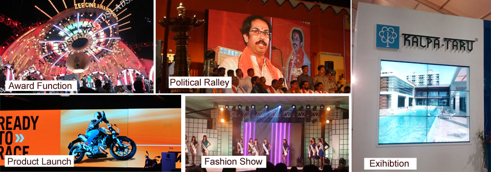 Best pricing indoor & outdoor LED display hire India