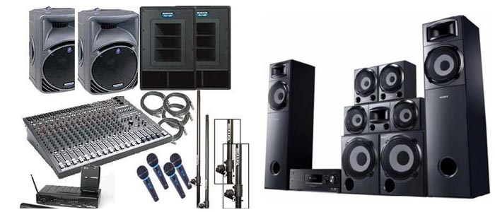 sound system on rental india