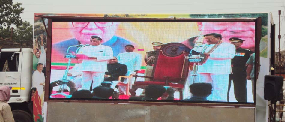 Truck mounted LED screens on rent India